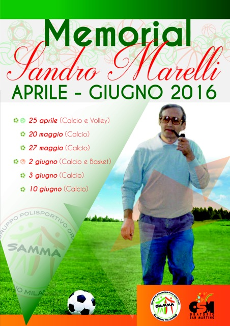 2 Giugno 2016 – Torneo Sandro Marelli a 5 su campo in sintetico