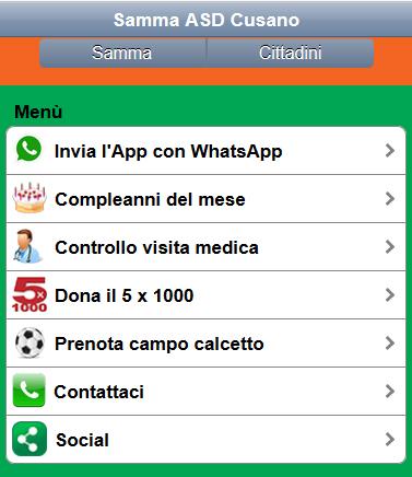 E' nata la Web App per i tifosi Samma e non solo…..