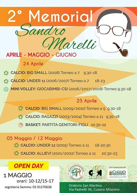 2° Memorial Sandro Marelli – Classifiche delle giornate del 24 e 25 Aprile
